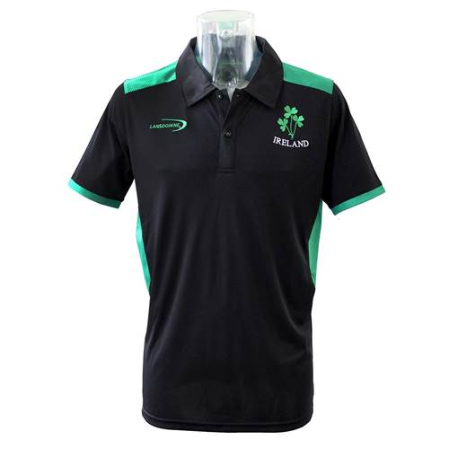 Ireland Perfomance Polo Shirt, BLACK